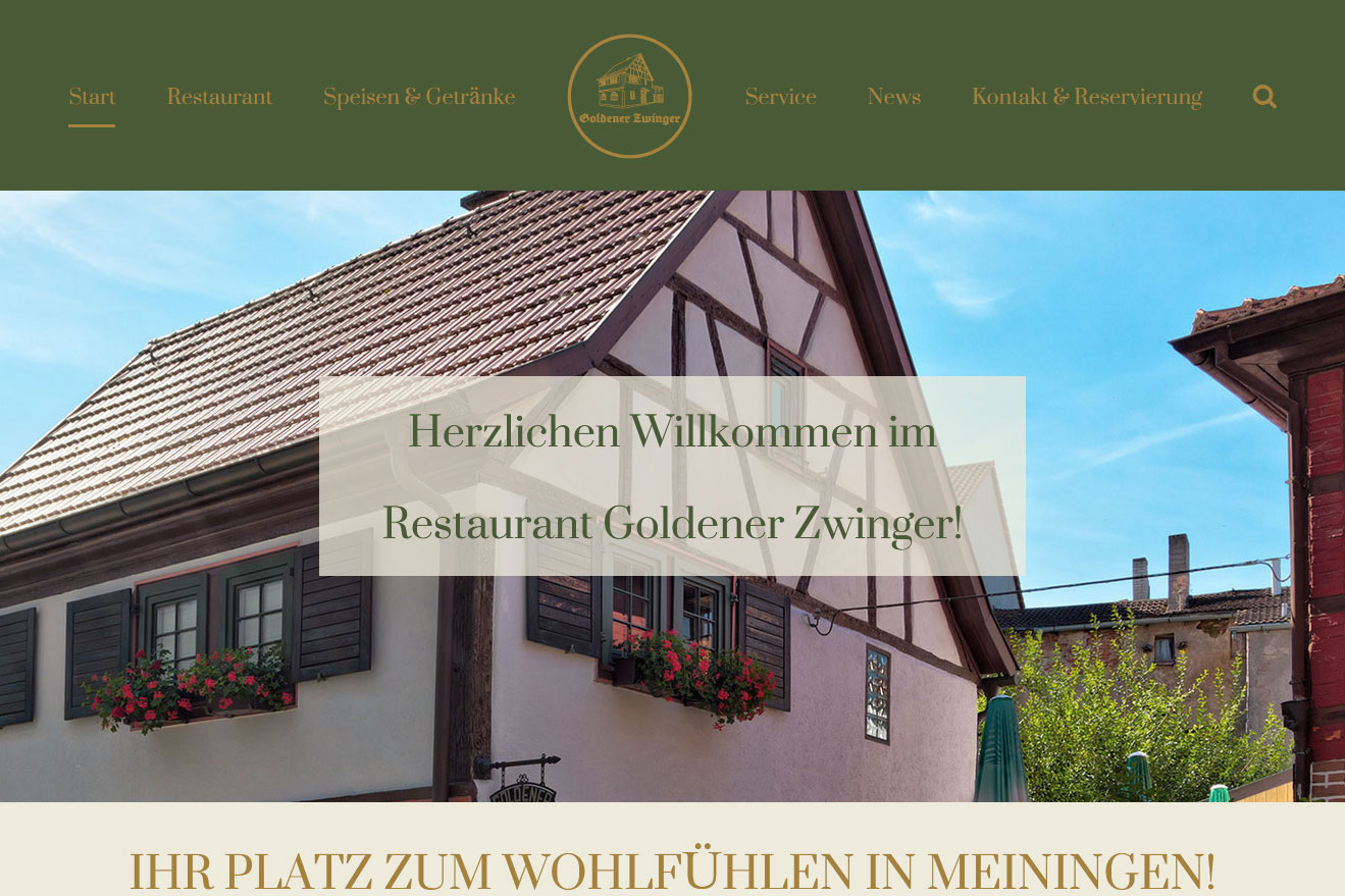 Neue Website - Blogbeitrag - Restaurant Goldener Zwinger in Meiningen