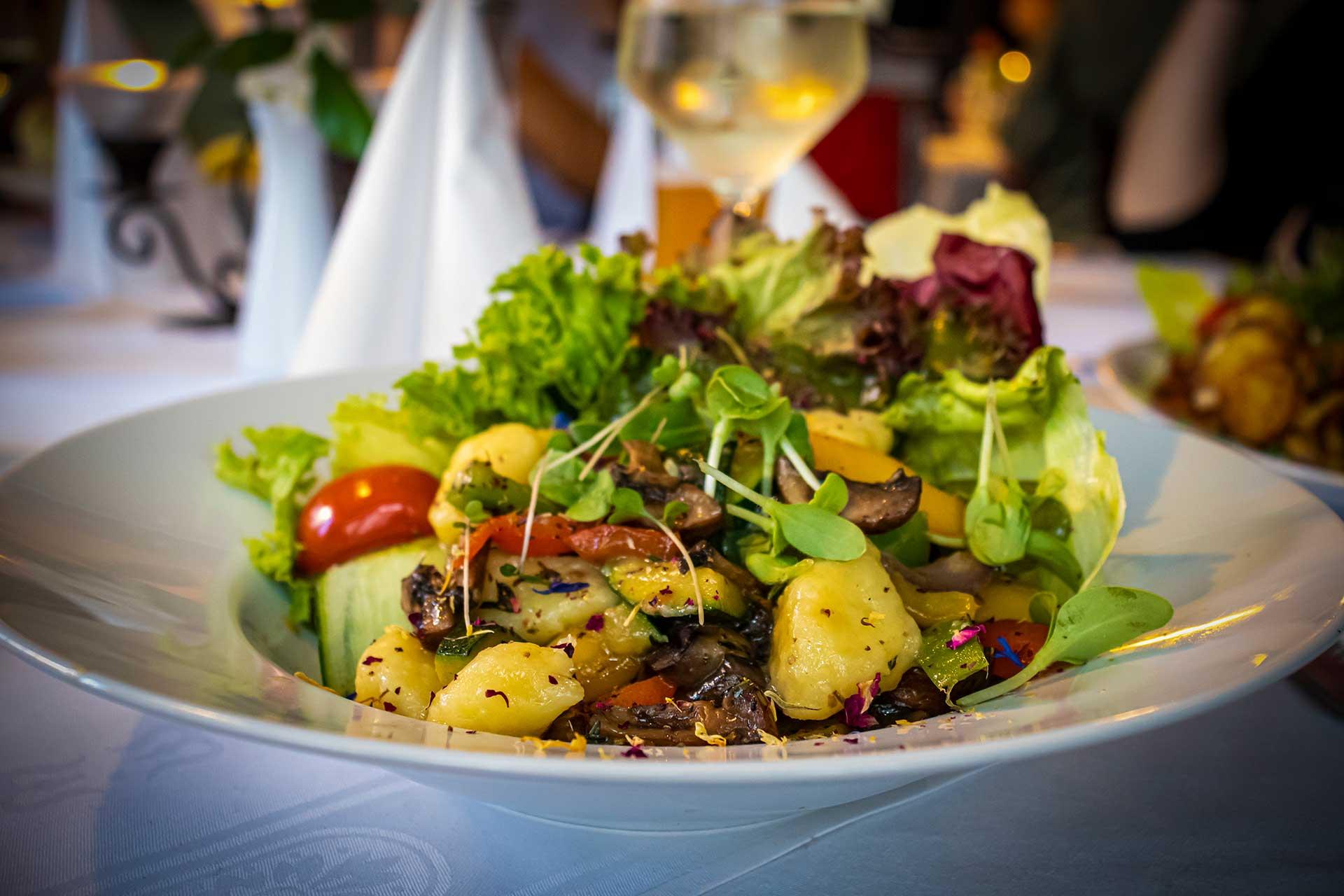 Speisen - Gnocchi mit Grillgemüse - Restaurant Goldener Zwinger