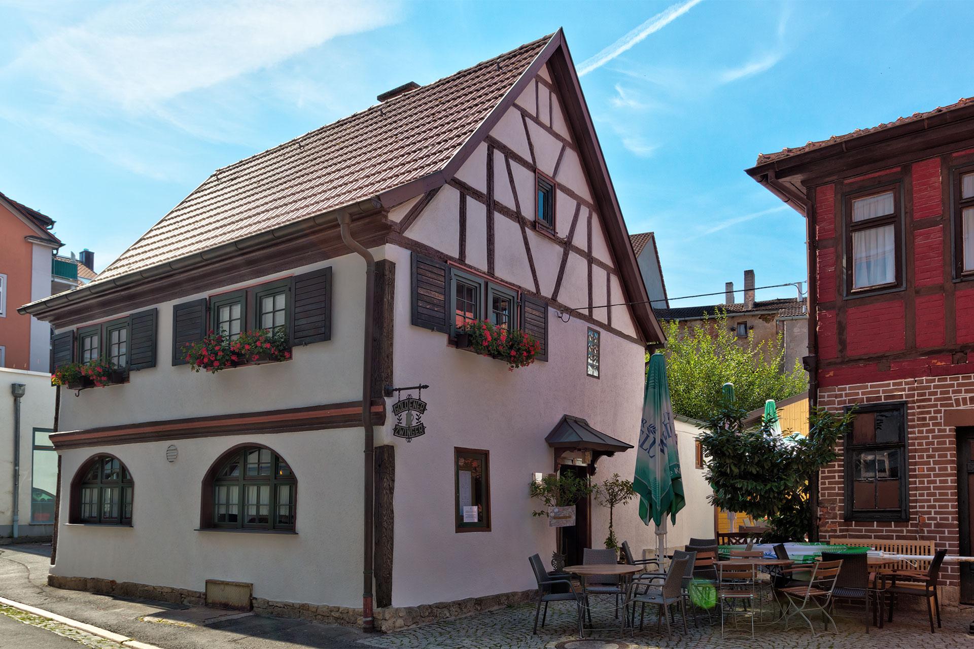 Goldener Zwinger in Meiningen mit Biergarten